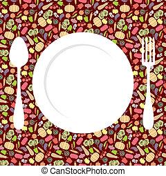 Vegetables menu background