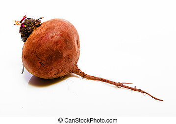 Vegetables on a white background. Beet