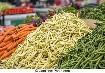 Vegetables on the market