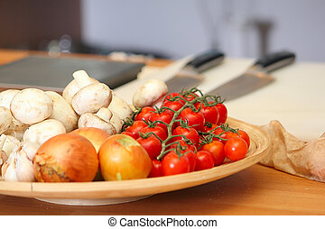 Vegetables on the plate