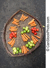 Vegetables on the street
