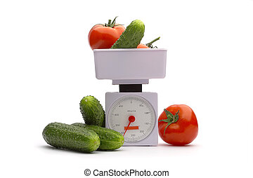 Vegetables on weights