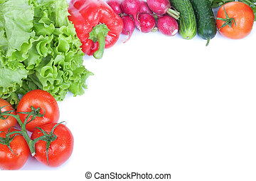 Vegetables on white background