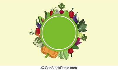 Vegetables organic food HD animation - Vegetables organic...