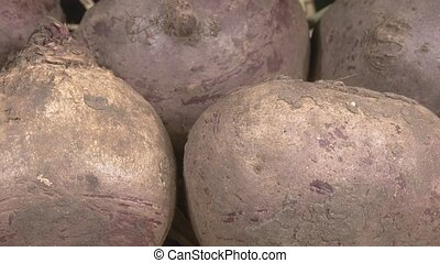 vegetables., organique, frais, close-up., betteraves