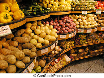 Vegetables - Photo of vegetables in a grocery store