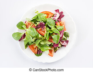 vegetables salad on a plate closeup