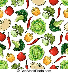 Vegetables seamless pattern background