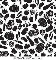 Vegetables seamless pattern - Seamless pattern with...