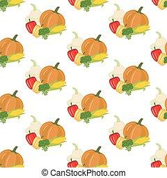 Vegetables seamless pattern