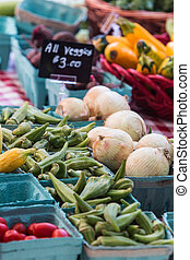 Vegetables Sit On Sale At Georgia Farmers Market