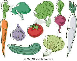 Vegetables Sketch