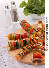 vegetables skewer