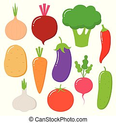Vegetables vector healthy nutrition of vegetably tomato pepper and carrot for vegetarians eating organic food from grocery illustration vegetated