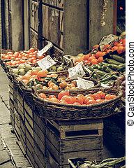 Vegetables vintage desaturated