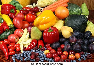 vegetables., vruchten