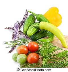Vegetables with beans