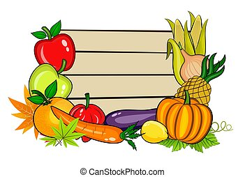 Vegetables with copy space - An illustration of copy space ...