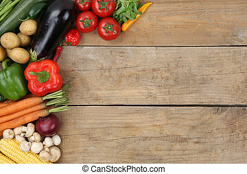 Vegetables with copyspace