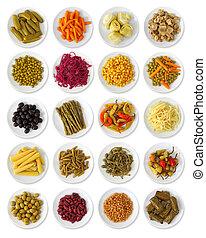 vegetais marinated, cobrança
