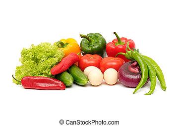 vegetal, aislado, en, un, blanco