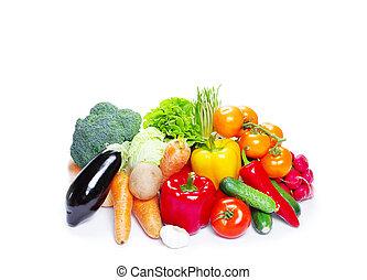 vegetal, blanco, aislado, plano de fondo