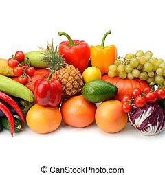 vegetal, blanco, fruta, aislado