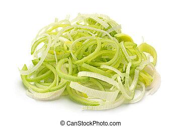 vegetal, blanco, puerro