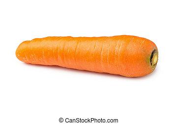 vegetal, blanco, zanahorias, aislado, plano de fondo