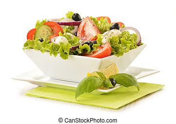 vegetal, bo, composição, salada