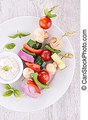 vegetal, churrasco