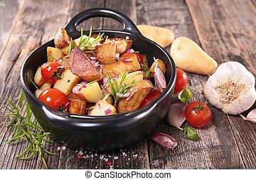 vegetal, cocido al horno