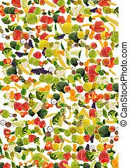 vegetal, e, fruta, fundo