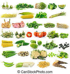 vegetal, fresco, fondo blanco