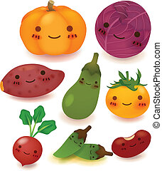 vegetal, fruta, colección