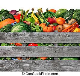 vegetal, fruta, colheita