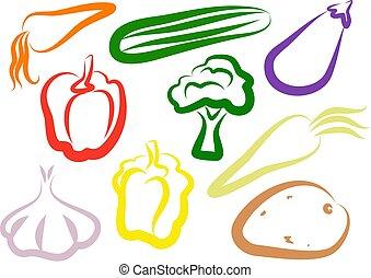 vegetal, iconos