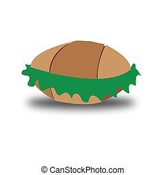 vegetal, ilustração, pão