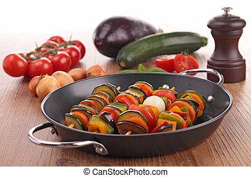 vegetal, kebab