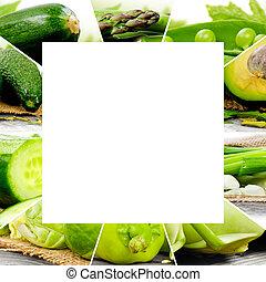 vegetal, mezcla, verde
