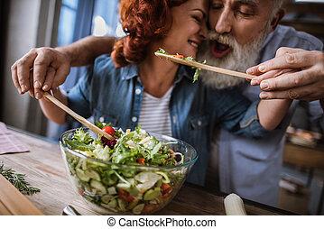 vegetal, par, cozinhar, salada