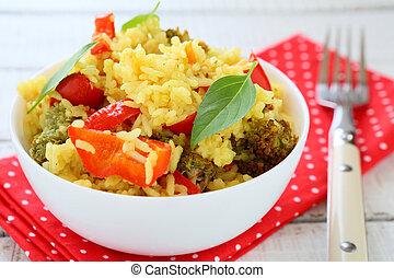 vegetal,  pilaf, páprica