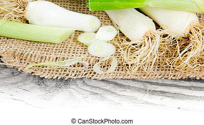 vegetal, puerro