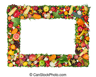 vegetal, quadro, fruta