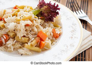 vegetal, risotto, branco, prato