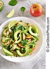 vegetal, salada fruta