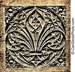 vegetal sculpture - illustration