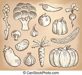 vegetal, tema, 3, colección