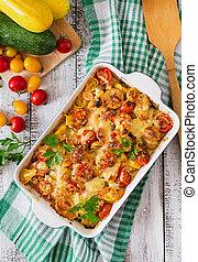 vegetal, vegetariano,  casserole