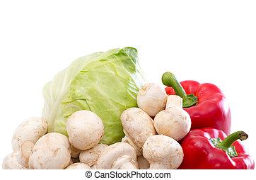 vegetal, vitamina, colección